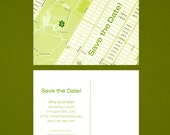 Custom Map Save The Date Postcard