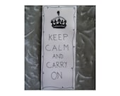 Keep Calm and Carry On Plastic Magnet