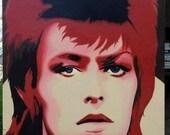 """David Bowie - ORIGINAL PAINTING - 48""""x32""""x4"""""""