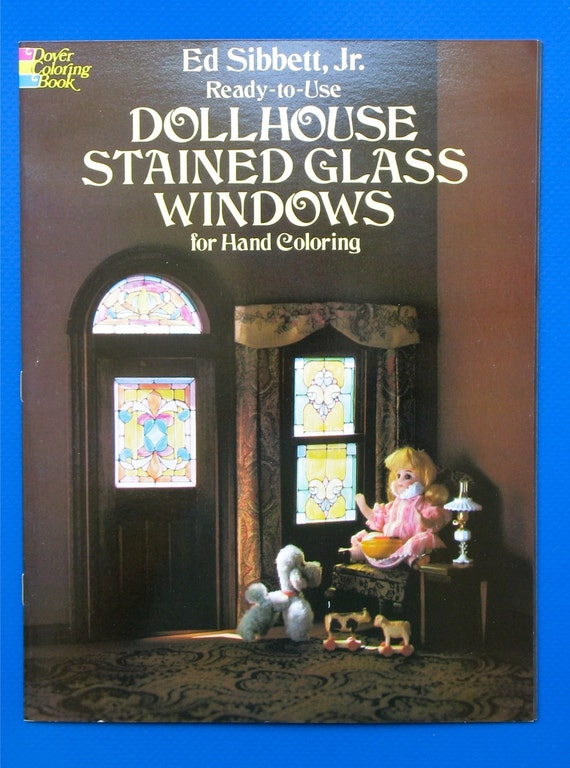 Ready To Use Dollhouse Stained Glass Windows For Hand