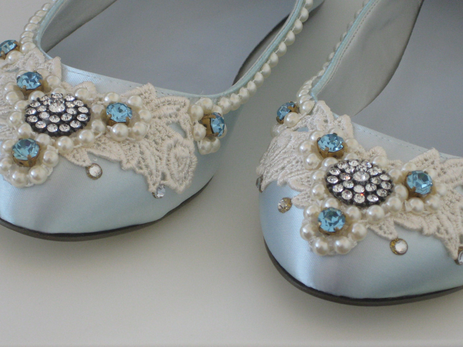 something blue bridal ballet flats