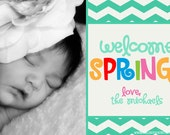 Easter Spring Photo Card