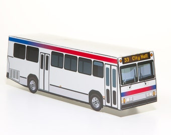 City Bus - papercraft bus