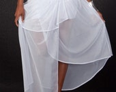 Haute Couture Sheer Asymmetrical Skirt witth Hot Pant