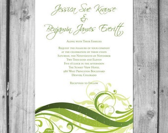 Earthy Swirl Wedding Invitation Set