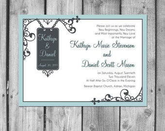 Hanging Sign Wedding Invitation Set