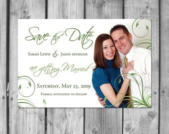 Vine Custom Save the Date Card