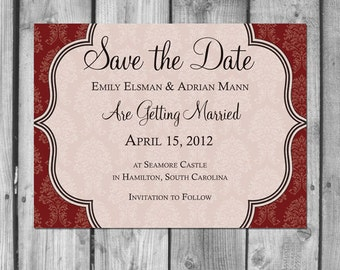 Elegant Damask Save the Date
