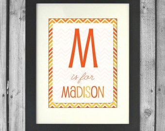 8x10 Customized Name Print