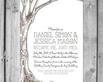 Love Tree Wedding Invitation Set