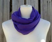 SALE - Infinity Scarf The PETITE Versatile All Season Scarf PURPLE Available in Many Colors