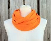 Sale - Infinity Scarf The PETITE Loop Scarf Mandarin Orange TANGERINE TANGO