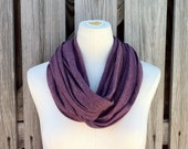 Infinity Scarf The GRANDE in MERLOT WINE Heather in the Soft Series Oxblood