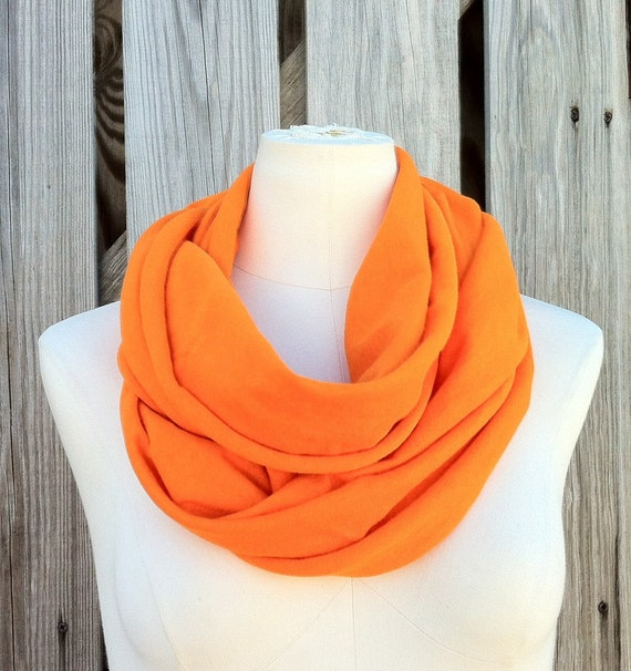 SALE - Infinity Scarf The GRANDE All Season Scarf in Mandarin ORANGE Tangerine Tango