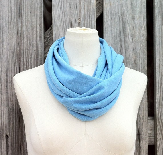 Sale - Infinity Scarf -The PETITE All Season Loop Scarf in SKY BLUE