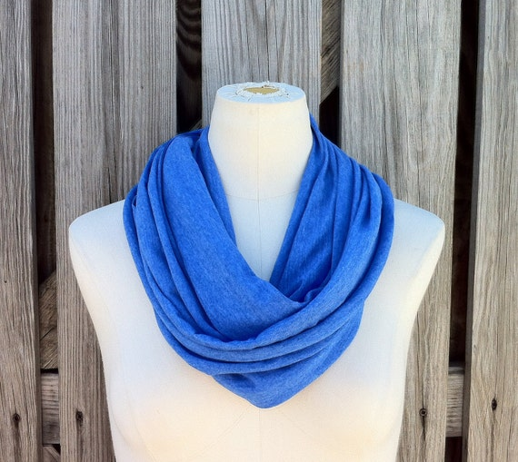 SALE - Infinity Scarf The Grande in ROYAL BLUE Heather Lightweight