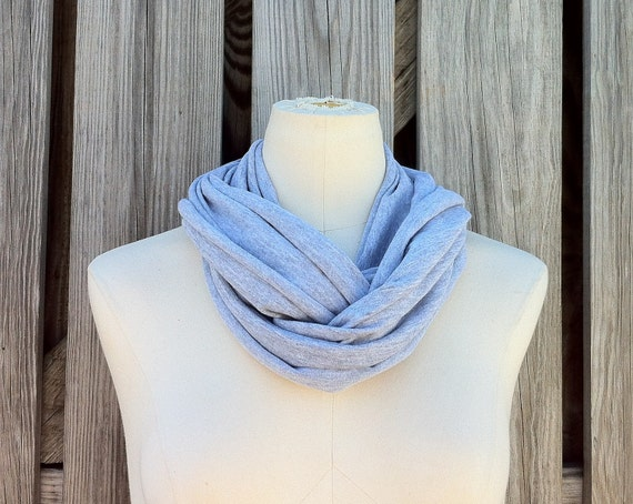 Infinity Scarf The PETITE Lightweight Eternity Scarf in FOSSIL GRAY Heather