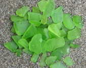 Green Sea Glass Pieces lot of 50