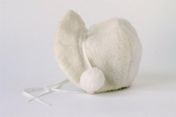 vintage little girls white winter hat