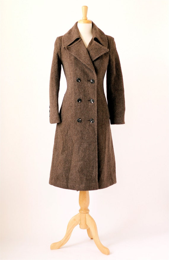 1960s vintage Ruby Martin brown wool coat