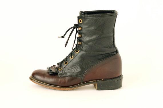 vintage Laredo keltie lace-up boots 7