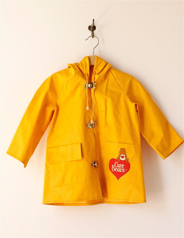 vintage childs Care Bears raincoat