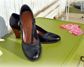 Darling Vintage Leather Mary Jane Oxford Pumps