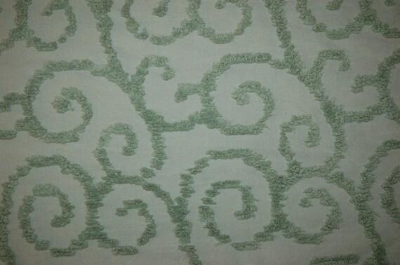"green chenille fabric 10"" x 23"""