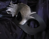 Silver Aeon Effect Handmade Leather Masquerade Mask
