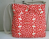 Best Seller -Super Awesome Diaper Bag - Amy Butler Wallflower in Cherry - 7 large pockets