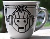 Doctor Who Cyberman on White Mug