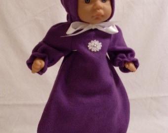 "13""-14"" Purple Bunting and Hood Set"