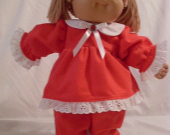 "16"" Girl Cabbage Patch Red and White Pajamas"