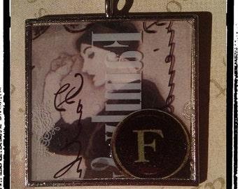 "Frisky Flapper ""F"" Initial Pendant"