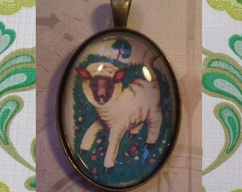 Retro Lamb Pendant
