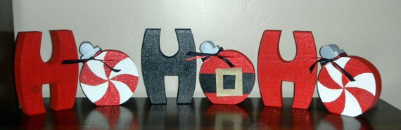 HOHOHO Letters with ornaments - Cute Christmas Decor