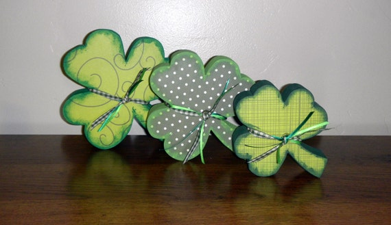 Shamrock Trio - perfect for St Patrick's Day Decor