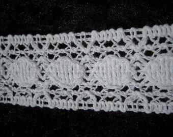 Vintage white Crochet trim-3 yards- 36mm  wide