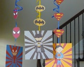 Super Hero hanging birthday decoration
