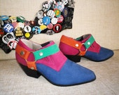 Totally Rad 80s ELECTRIC Cowboy boots booties shoes NOS 6