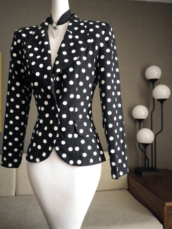 Gold and white polka dots