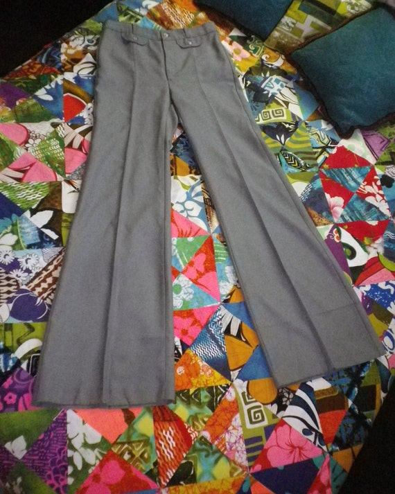 Vintage 70s Mens Disco Flare Angels Flight Pants