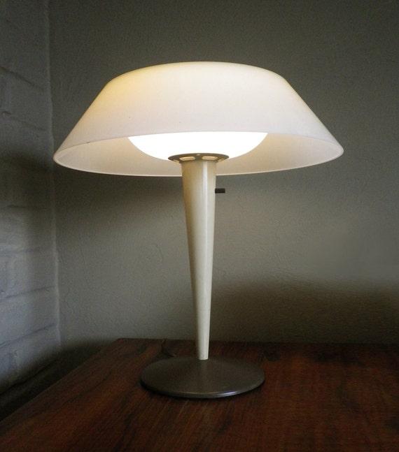 Vintage 40s 50s Modernism Table Lamp Mod Industrial Design Mushroom Space Age
