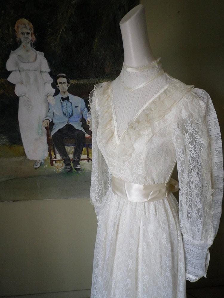 Vintage Gunne Sax By Jessica Mcclintock Long Dress By