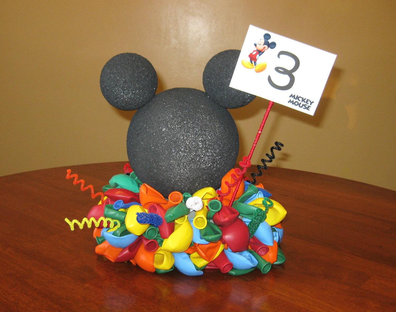 Mickey mouse balloon centerpiece
