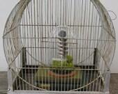 1930s Metal Wire Birdcage