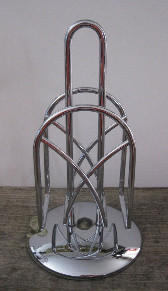 Industrial Metal Stand Chrome Art Deco