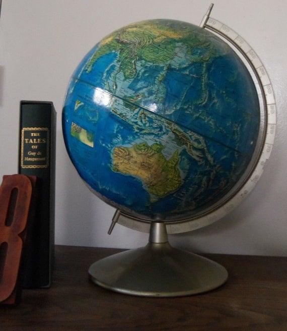 Vintage Globe Rand McNally World Portrait Globe