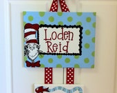 Dr. Seuss-Cat in the Hat-Custom Hospital Birth Announcement Door Hanger