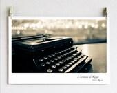 Typewriter Photo / Russia / Kazan / Kazan's writer / Fine Art Photo Online Artwork / Sepia photography 5x7 (13x19 cm)